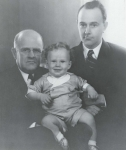 Guilford Carlile Babcock with his son, Guilford Carlile Babcock Jr, and his grandson Guilford Carlile Babcock III - 1932