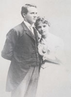Harry Chandler & Magdalena Schlador marriage portrait