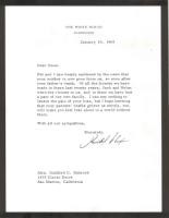 Sympathy letter from Nixon