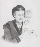 """Joe"" with her daughter Sadie Blanche Hinman in 1870"