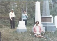At the Jewett Cemetery in 1967