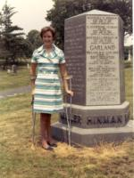 Gwen (Garland) Babcock and the Hinman-Garland side of the Miller monument