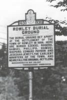 Sign for Rowley Burial Ground
