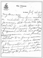 1910 letter to daughter